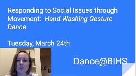 Thumbnail for entry Tues. March 24th Responding to Social Issues through Dance- Gestures