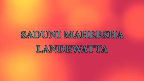 Thumbnail for entry Saduni Landewatta Autobiography