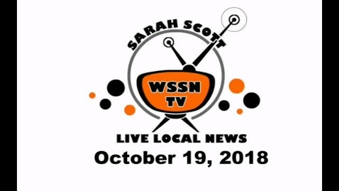 Thumbnail for entry WSSN News Oct 19, 2018