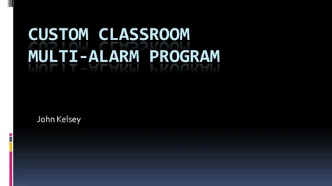 Thumbnail for entry Custom Multi Alarm Software Tutorial