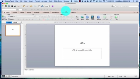 Thumbnail for entry How to open the save menu in powerpoint