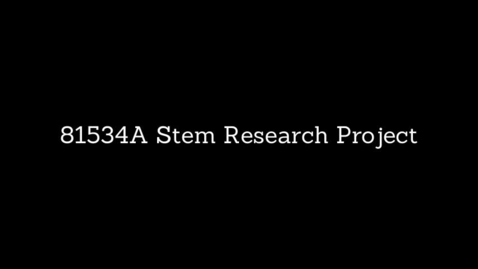 Thumbnail for entry 81534A Robotics STEM Research Project