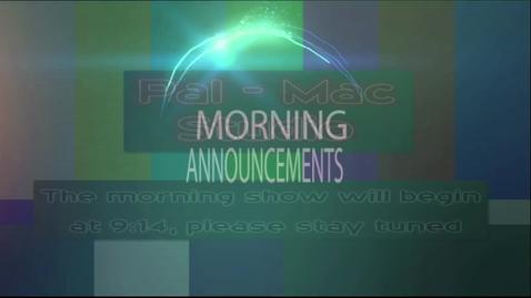 Thumbnail for entry Pal-Mac Morning Show 11-12-15