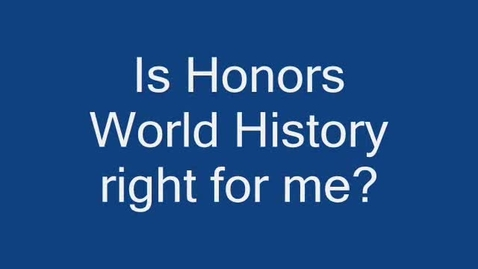 Thumbnail for entry Honors World History at MHS
