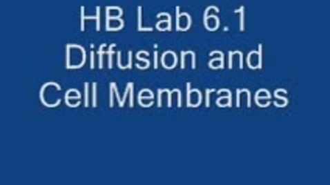 Thumbnail for entry HBS Lab 6.1