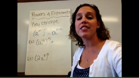 Thumbnail for entry Pre-Alg - Sect 1-13 Powers & Exponents