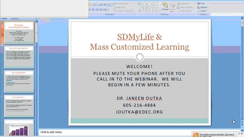 Thumbnail for entry SDMyLife & Mass Customized Learning