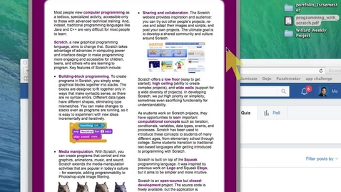 Thumbnail for entry Programming with Scratch