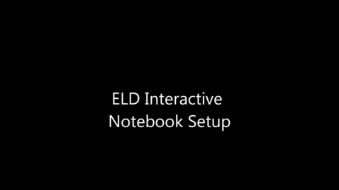 Thumbnail for entry Setting Up Your Interactive Notebook