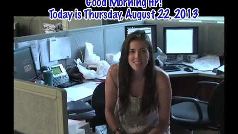 Thumbnail for entry Thursday, August 22, 2013
