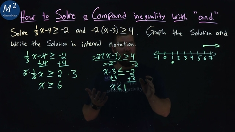 """Thumbnail for entry How to Solve a Compound Inequality with """"and"""" (No Solution Example) 