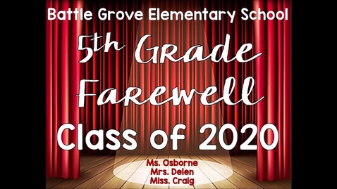 Thumbnail for entry BGE 5th Grade Farewell