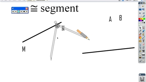 Thumbnail for entry Constructing congruent segment