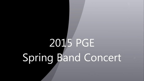 Thumbnail for entry Band Concert Spring 2015