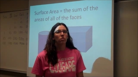 Thumbnail for entry Surface Area - rectangular prisms