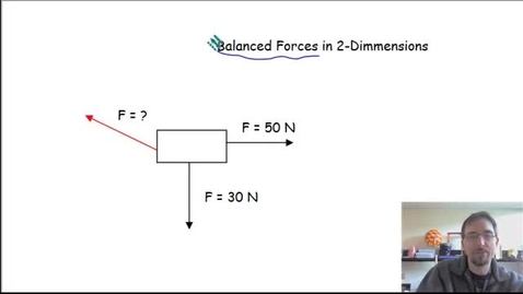 Thumbnail for entry 2D balanced and unbalanced forces