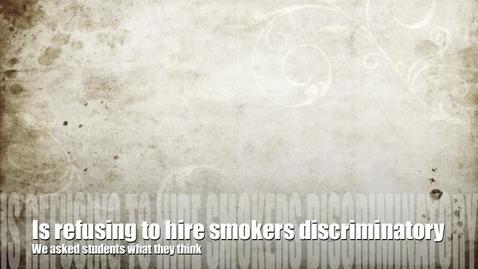 Thumbnail for entry Smoking Discrimination