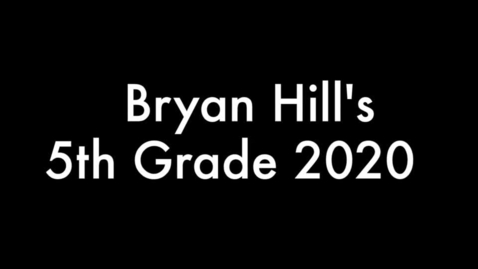 Thumbnail for entry 5th grade 2020