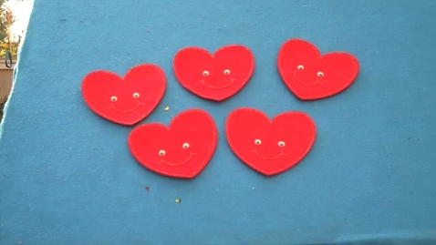 Thumbnail for entry Valentine's Day Songs For Children ~ Five Little Hearts Flannel Board Story