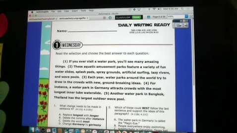 Thumbnail for entry March 10 Writing and Reading Ready