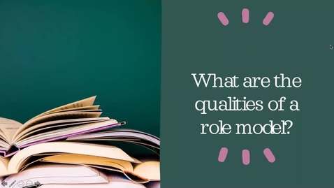 Thumbnail for entry Essay-What are the qualities of a good role model?