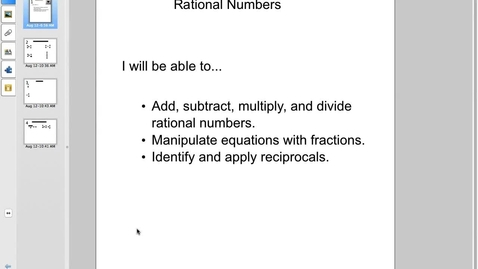 Thumbnail for entry Station 5 Rational Numbers