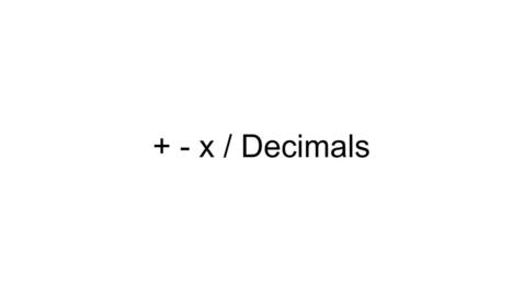 Thumbnail for entry Decimal Computation