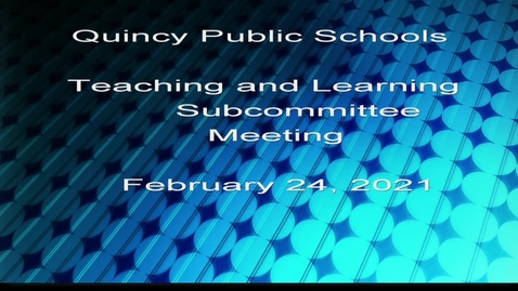 Thumbnail for entry Teaching and Learning Subcommittee February 24, 2021