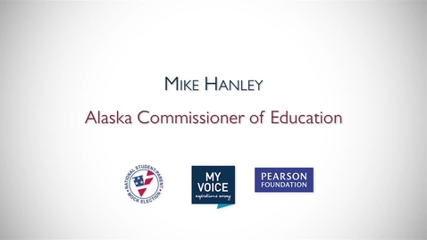 Thumbnail for entry My Voice NSME 2012 PSA: Mike Hanley, Alaska Commissioner of Education