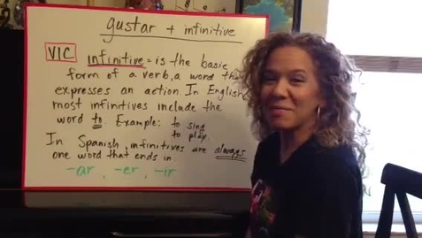 Thumbnail for entry Verb gustar + infinitive in Spanish