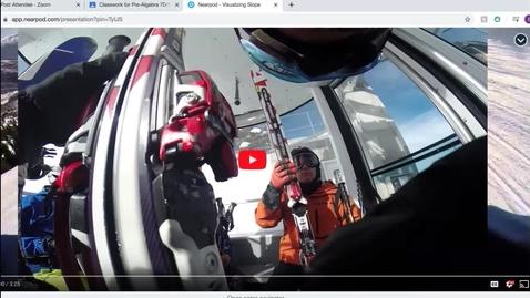 Thumbnail for entry Visualizing Slope Nearpod Lesson skiing video