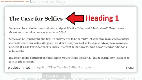 Thumbnail for entry WP: My Ideal Selfies - Part 2