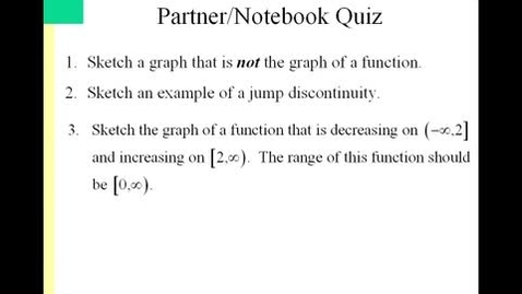 Thumbnail for entry Sec. 1.2 Day 3 Pre Calculus