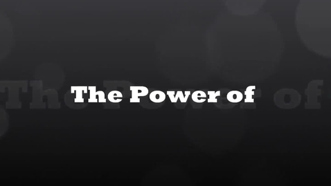 Thumbnail for entry The Power of One