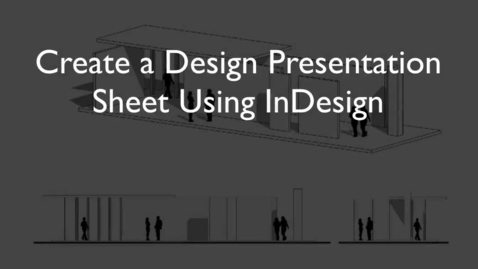 Thumbnail for entry SketchUp to InDesign