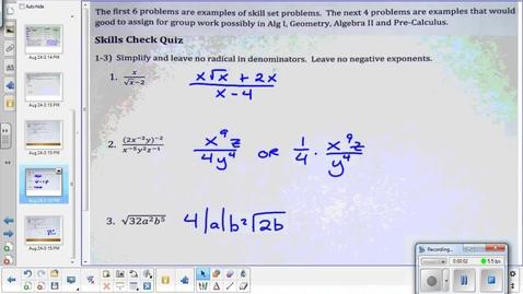 Thumbnail for entry Interval notation Precal 8-25-15