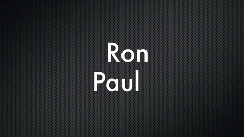 Thumbnail for entry Ron Paul Political Commercial