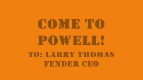Thumbnail for entry Fender to Powell