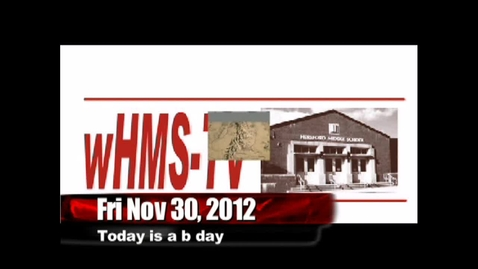 Thumbnail for entry 11-30-12 WHMS Morning News