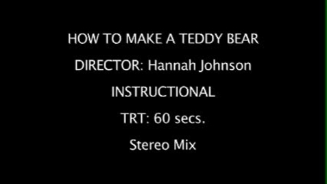 Thumbnail for entry How to make a Teddy Bear