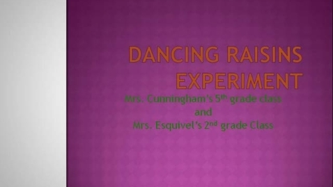 Thumbnail for entry Dancing Raisins Experiment