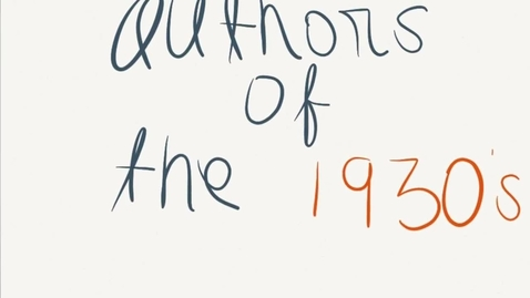 Thumbnail for entry Authors of the 1930's