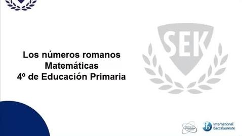 Thumbnail for entry Los números romanos