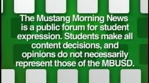 Thumbnail for entry Mustang Morning News 9-17-10