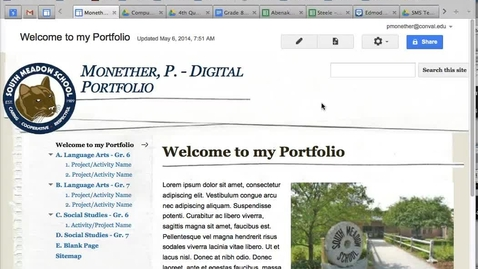 Thumbnail for entry Google Sites - Sharing