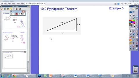 Thumbnail for entry 10.2 Pythagorean Theorem Example #3
