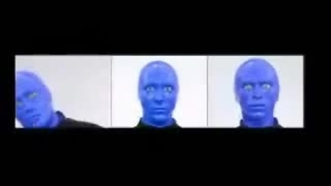 """Thumbnail for entry Blue Man Group video featured on """"Earth To America!"""""""