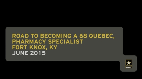 Thumbnail for entry Road to Becoming a 68 Quebec, Pharmacy Specialist