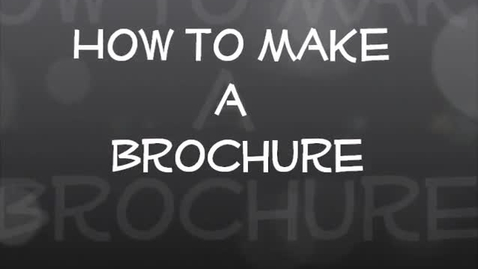 Thumbnail for entry How to Make a Brochure Using Microsoft Publisher