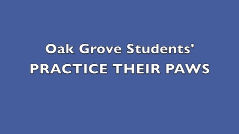 Thumbnail for entry Practice Paws Oak Grove